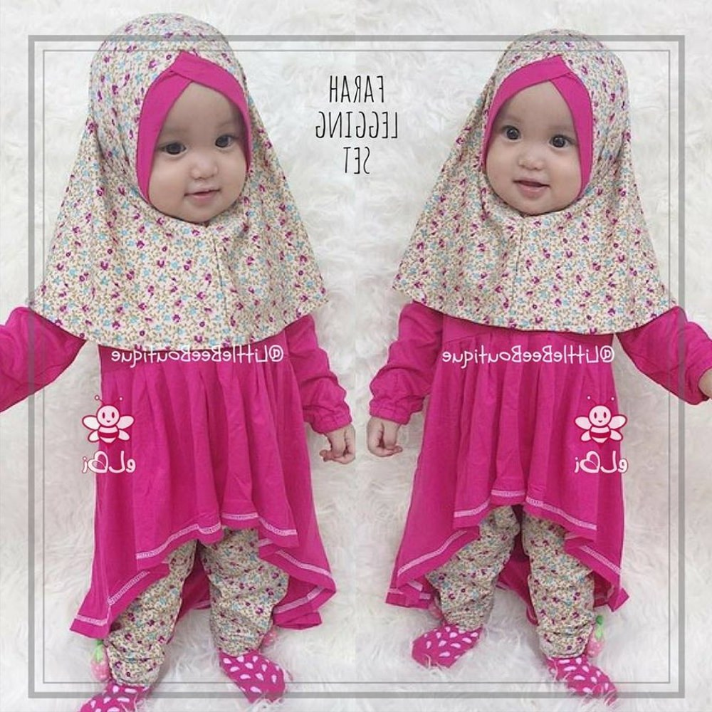 Ide Baju Lebaran Bayi Perempuan Etdg Jual Baju Muslim Anak Perempuan I Baju Bayi Perempuan Lucu