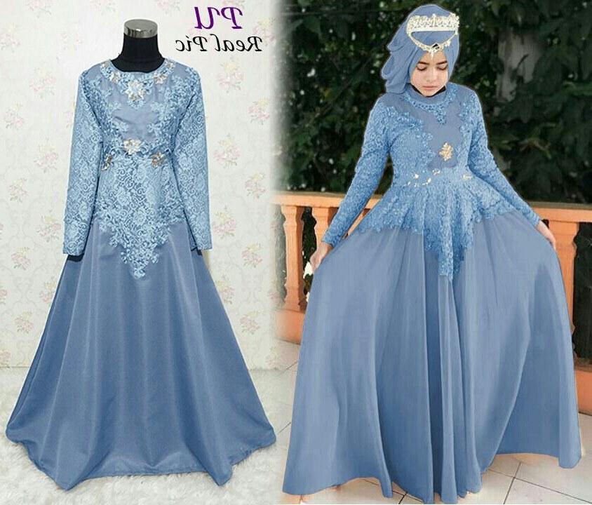 Ide Baju Lebaran Brokat X8d1 Baju Gamis Pesta Brokat Diana Busana Muslim Remaja Murah