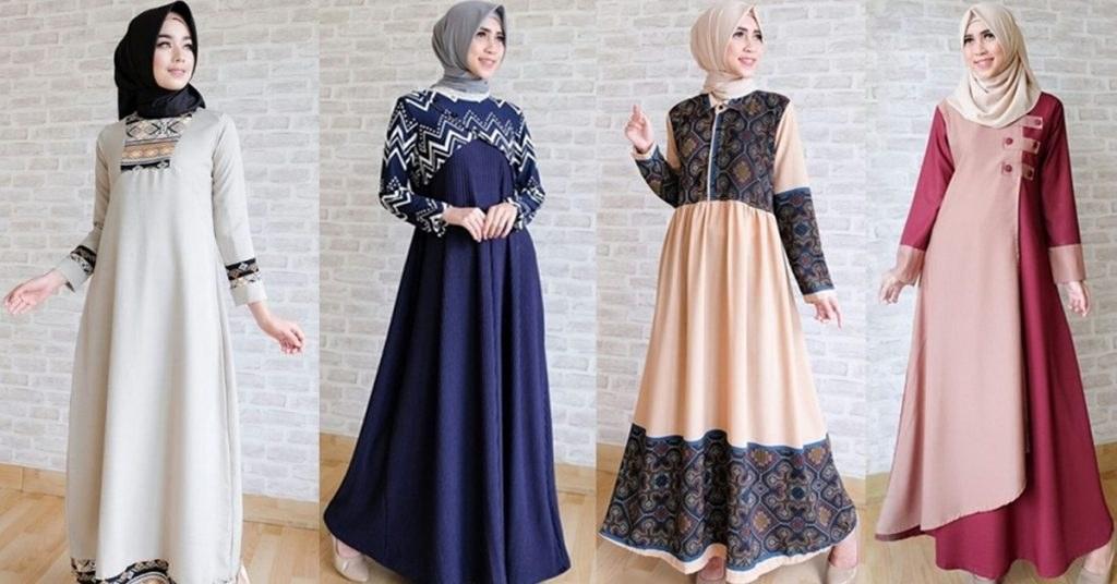 Ide Baju Lebaran Buat Keluarga Jxdu Model Baju Muslim Abaya Terbaru 2018 Untuk Acara Keluarga