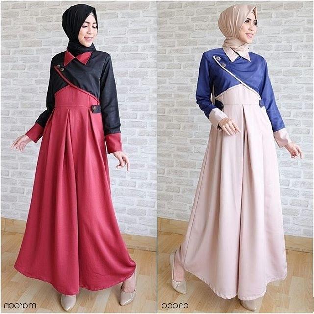 Ide Baju Lebaran Casual 9fdy 18 Model Baju Muslim Terbaru 2018 Desain Simple Casual