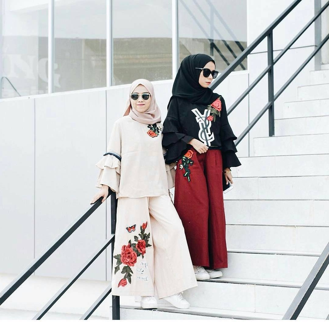 Ide Baju Lebaran Casual Rldj 20 Trend Model Baju Muslim Lebaran 2018 Casual Simple Dan