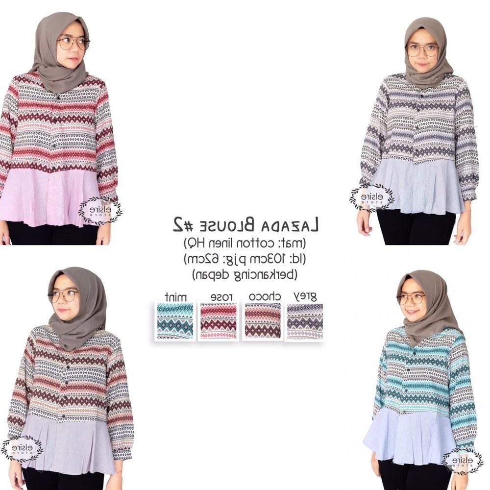 Ide Baju Lebaran Di Lazada X8d1 Jual atasan Baju Cewek Baju Wanita Tunik Blouse