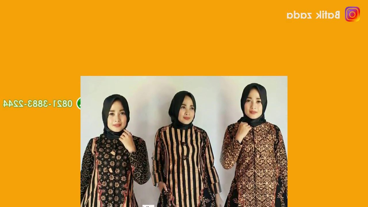 Ide Baju Lebaran Ibu Q0d4 Model Baju Batik Wanita Terbaru Trend Model Baju Batik