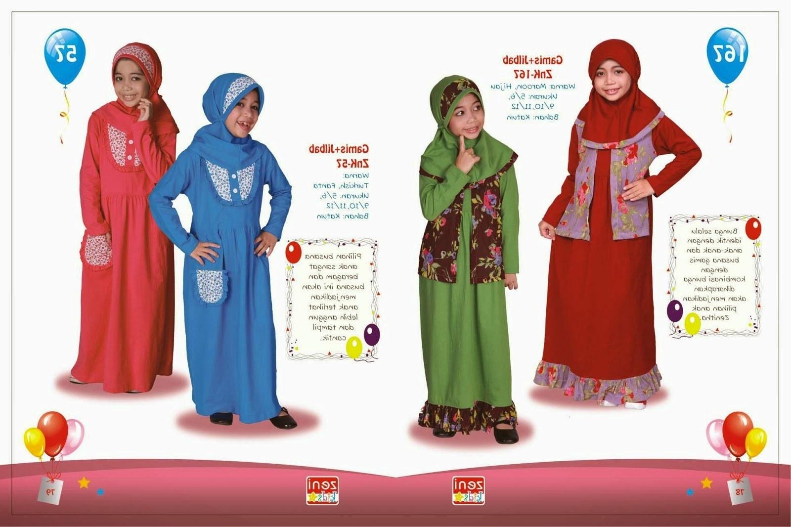 Ide Baju Lebaran Lucu S1du Baju Lebaran Anak Setelan Gamis Yang Imut Dan Lucu 2015