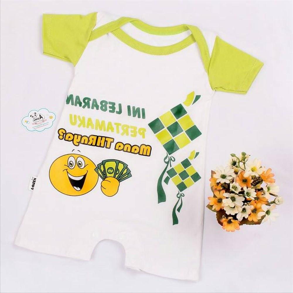 Ide Baju Lebaran Lucu Tqd3 Jual Baju Bayi Lebaran Romper Lucu Di Lapak Azura Baby