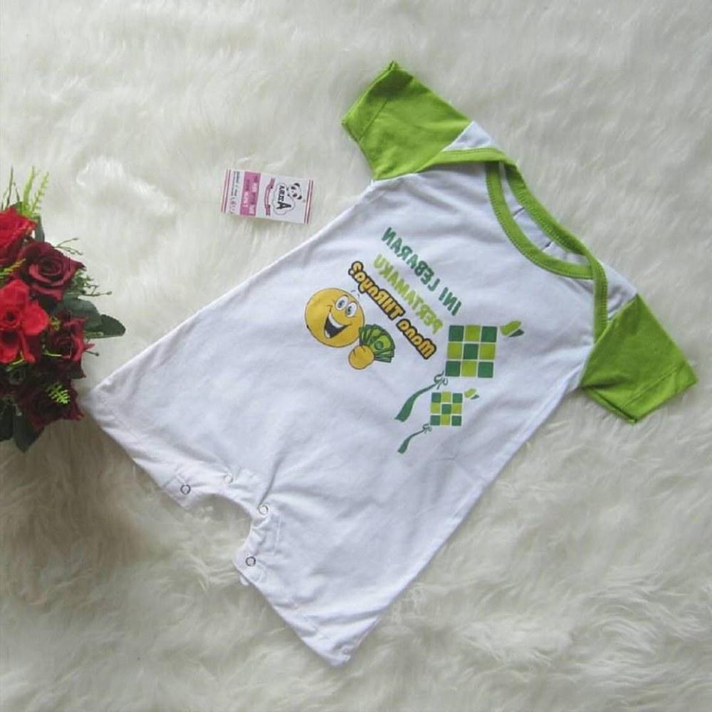 Ide Baju Lebaran Lucu Xtd6 Jual Baju Bayi Lebaran Romper Lucu Di Lapak Azura Baby