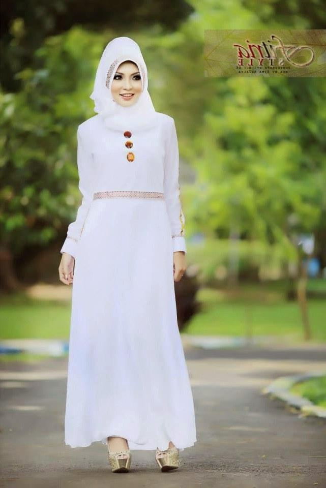Ide Baju Lebaran Modern 8ydm 12 Contoh Model Gamis Muslim Lebaran Terbaru Kumpulan