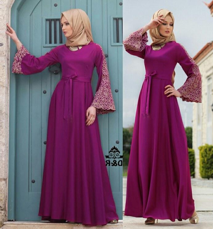 Ide Baju Lebaran Muslim Terbaru Gdd0 Model Gamis Terbaru Setelan Baju Muslim Wanita Modern