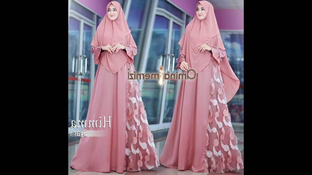 Ide Baju Lebaran Muslimah Whdr 3 Model Baju Gamis 2018 Syari Lebaran 2018 Inspirasi