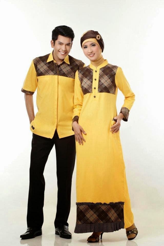 Ide Baju Lebaran Suami istri S5d8 15 Model Baju Muslim Couple Pasangan Terbaik Kumpulan