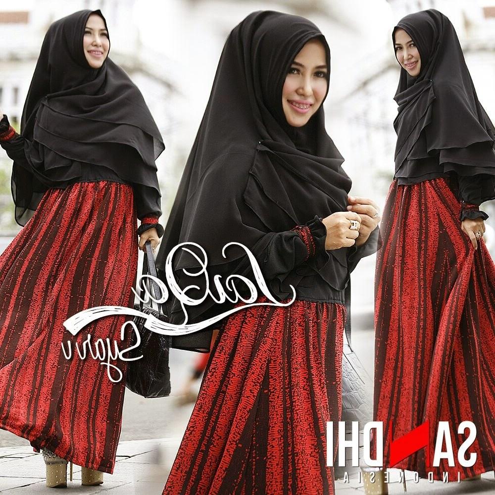 Ide Baju Lebaran Syari Bqdd Model Baju Gamis Terbaru Edisi Lebaran Laiqa Syar by Sandhi