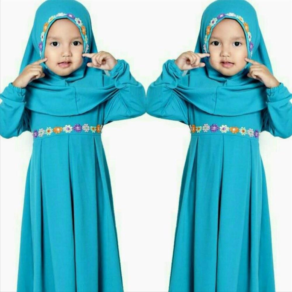 Ide Baju Lebaran Syari S1du Jual Baju Lebaran Alin Syari Pakaian Hijab Anak Baju