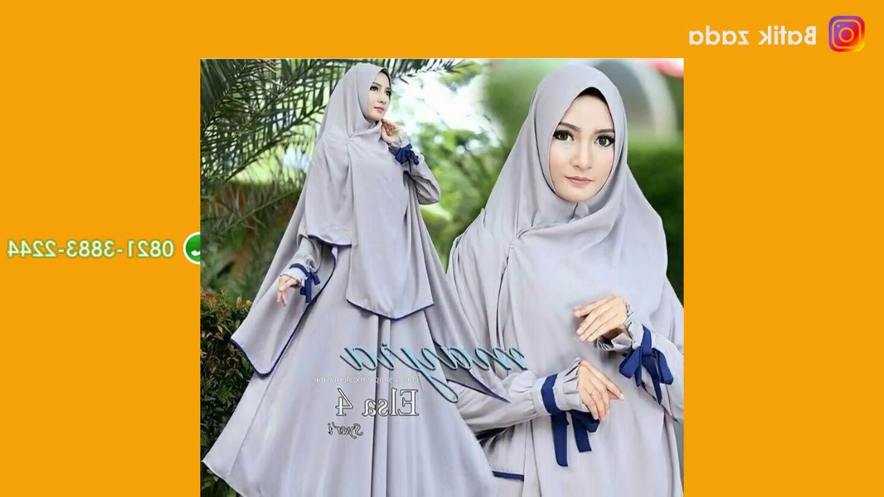 Ide Baju Lebaran Syari S1du Model Gamis Terbaru Baju Lebaran 2018 Model Terkini Hijab