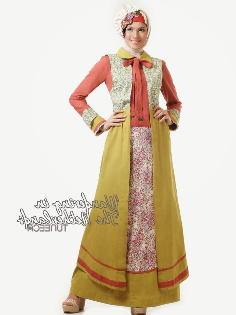 Ide Baju Lebaran Untuk Wanita 0gdr 12 Contoh Model Gamis Muslim Lebaran Terbaru Kumpulan