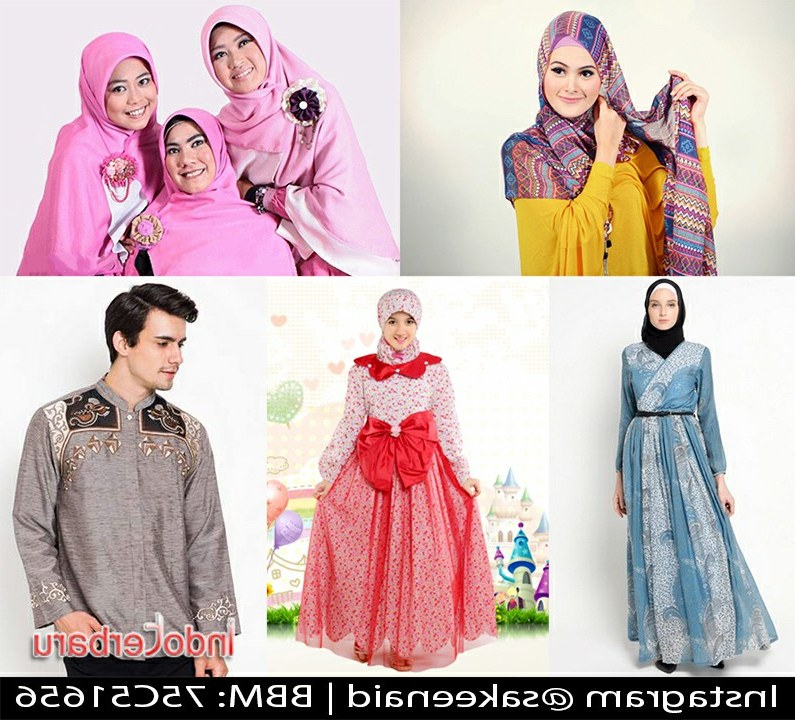 Ide Baju Lebaran Yang Terbaru T8dj Model Baju Muslim Lebaran Gambar Trend Terbaru Tahun Ini 2018