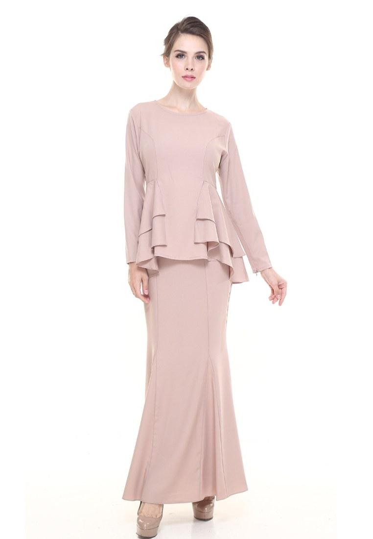 Ide Fashion Baju Lebaran 2018 Q5df 2018 Fashion Baju Kurung Raya 2018 Moss Crepe Design Baju