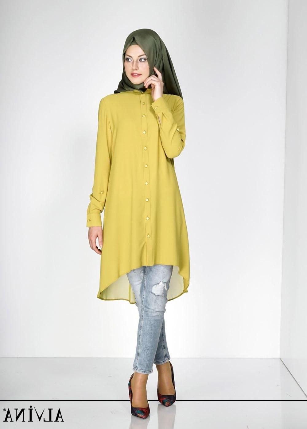 Ide Fashion Muslim Terbaru Rldj Percantik Tampilan Kuliah Dengan Model Baju atasan Muslim