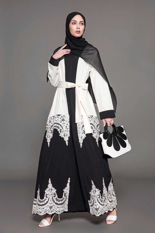Ide Fashion Muslimah Bqdd 2018 Plus Size 5xl Arab Elegant Abaya Kaftan islamic