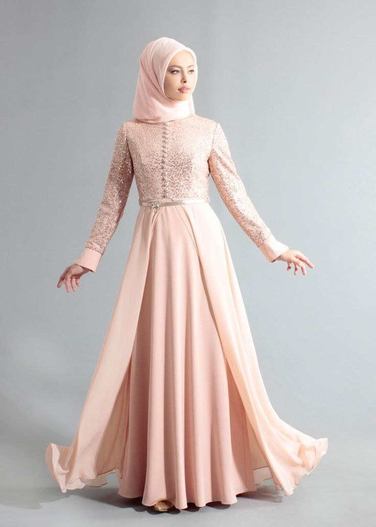 Ide Fashion Muslimah Mndw 5242 Crİss TesettÜr Abİye 38 44 Pudra Alvina