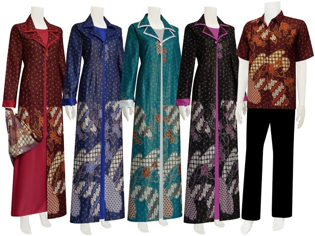 Ide Gambar Lucu Baju Lebaran Wddj Foto Baju Muslim Batik Model Terbaru