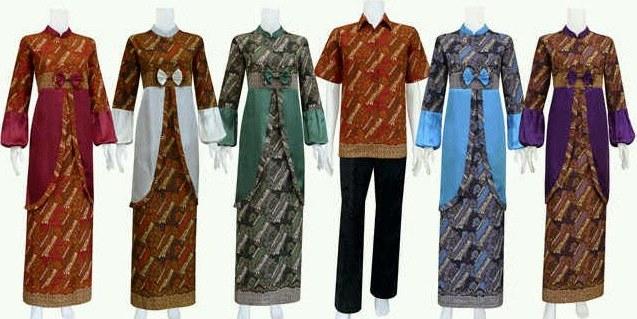 Ide Kata Baju Lebaran E6d5 Foto Baju Muslim Batik Model Terbaru