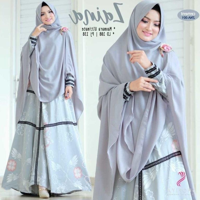 Ide Model Baju Lebaran 2019 Tanah Abang 3ldq Gamis Modern Motif 2019 Zaina ori by Shofiya