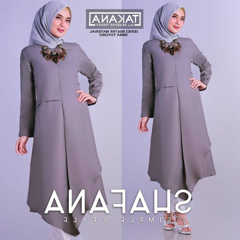 Ide Model Baju Lebaran atasan 2018 S1du Model Baju Muslim 2018 Terbaru