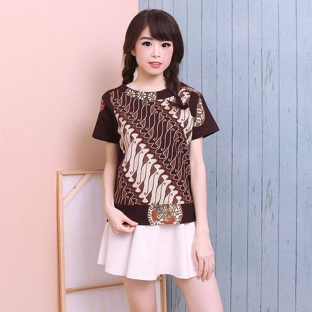 Ide Model Baju Lebaran atasan 2019 87dx 48 Model Baju Batik atasan Wanita Terbaru 2019 Model