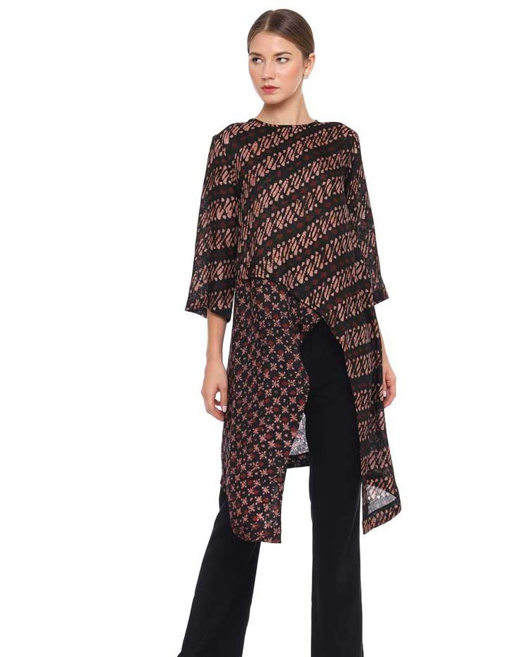 Ide Model Baju Lebaran atasan 2019 Dwdk 30 Model Baju Batik atasan Wanita Kantor Terbaru 2019