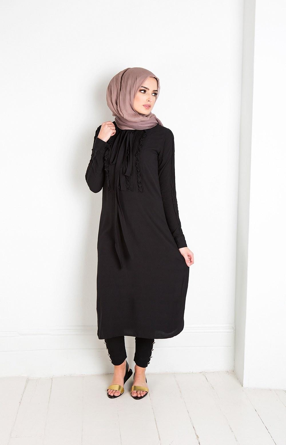 Ide Model Baju Lebaran Baru Etdg 25 Trend Model Baju Muslim Lebaran 2018 Simple & Modis