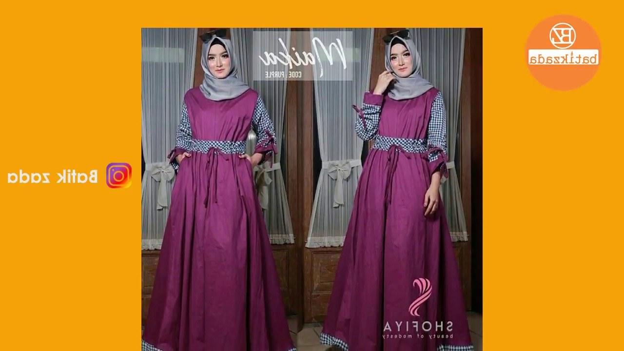 Ide Model Baju Lebaran Batik 2018 Q5df Trend Model Gamis Lebaran 2018 Trend Baju Muslim 2018