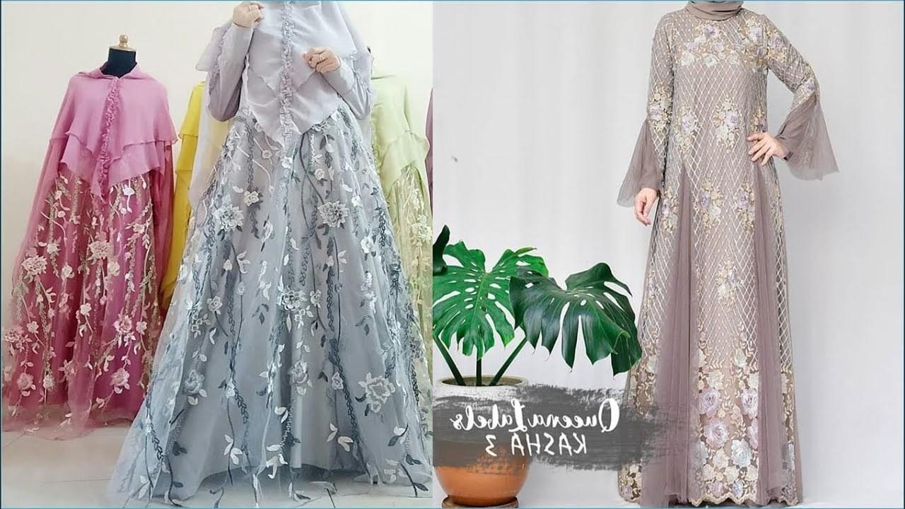 Ide Model Baju Lebaran Brokat 2019 Y7du Gamis Brokat Model Masakini Dan Terbaru Trend Lebaran 2019