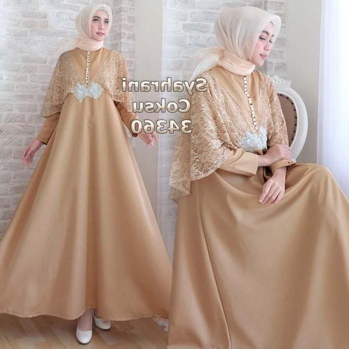 Ide Model Baju Lebaran Brokat 2019 Y7du Gamis Pesta Remaja Kombinasi 2019 Syahrani Gamisalya