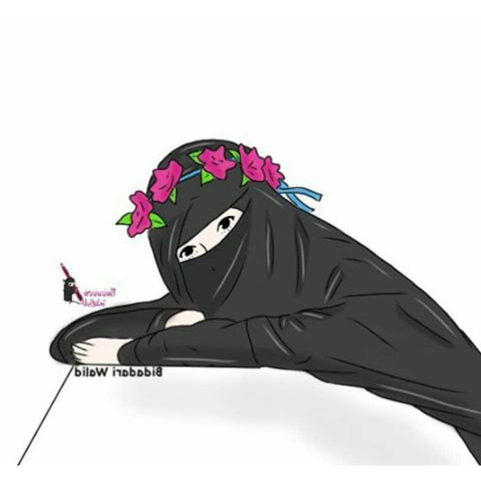 Ide Muslimah Bercadar Fmdf Gambar Kartun Muslimah Bercadar