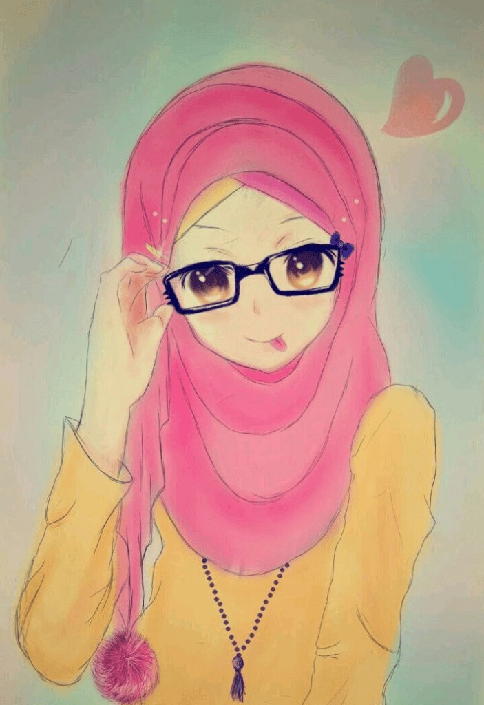 Ide Muslimah Bercadar Keren Ftd8 300 Gambar Kartun Muslimah Bercadar Cantik Sedih Keren