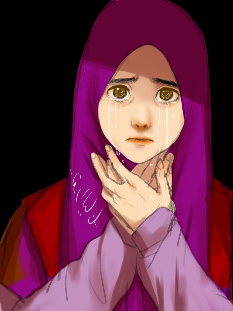 Ide Muslimah Bercadar Menangis 0gdr 55 Gambar Kartun Guru Berkerudung