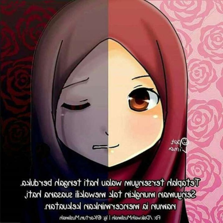 Ide Muslimah Bercadar Menangis Nkde 75 Gambar Kartun Muslimah Cantik Dan Imut Bercadar