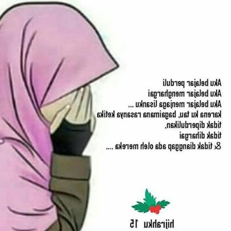Ide Muslimah Bercadar Menangis S1du 75 Gambar Kartun Muslimah Cantik Dan Imut Bercadar
