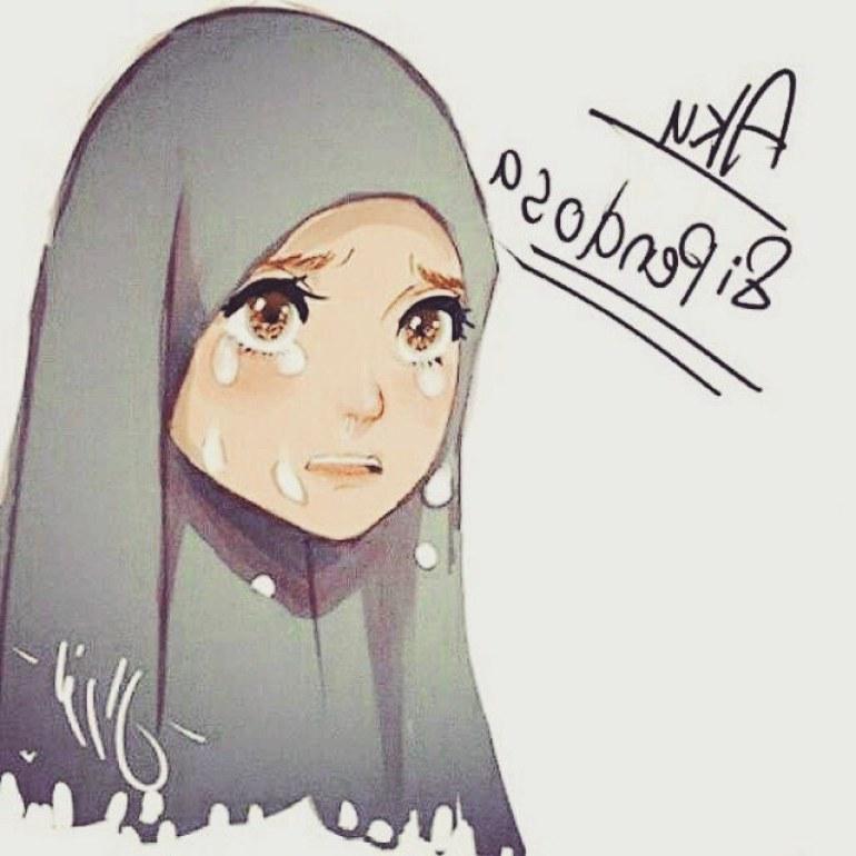 Ide Muslimah Bercadar Menangis Xtd6 75 Gambar Kartun Muslimah Cantik Dan Imut Bercadar
