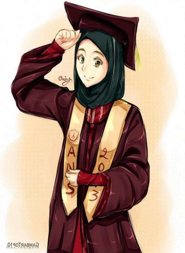 Ide Muslimah Kartun Keren 4pde 10 Gambar Kartun Muslimah