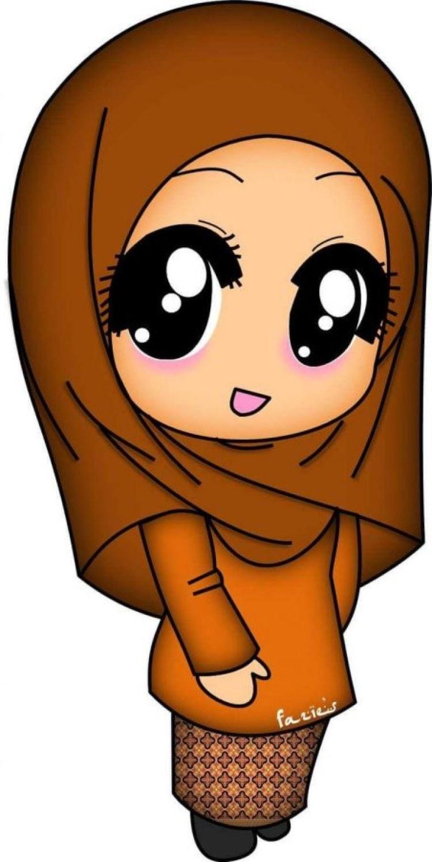 Ide Muslimah Kartun Keren Kvdd 300 Gambar Kartun Muslimah Bercadar Cantik Sedih Keren