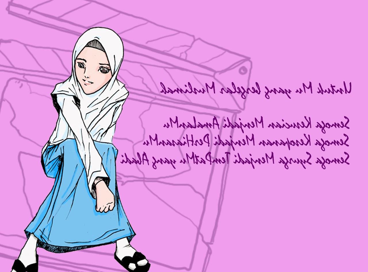 Ide Muslimah Kartun Keren O2d5 Wallpaper Gambar Kartun Muslimah Keren Terbaru