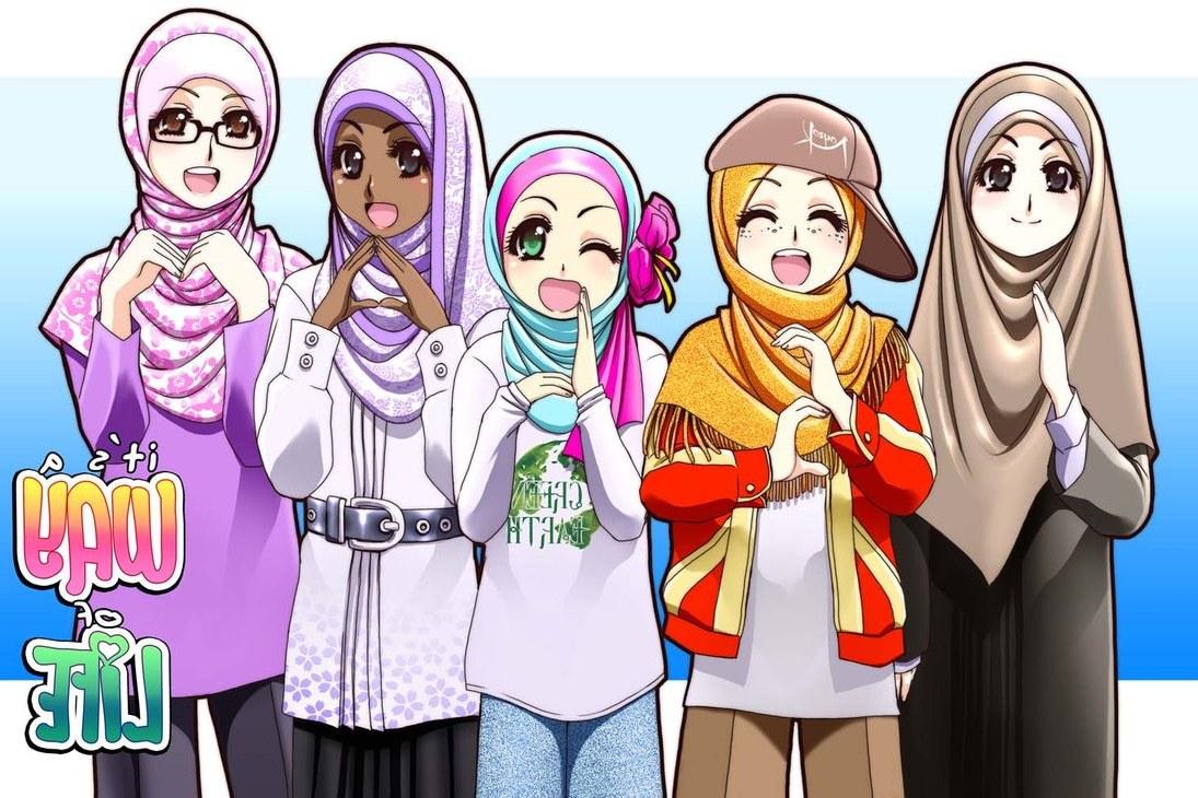 Ide Muslimah Kartun Keren S1du Wallpaper Gambar Kartun Muslimah Keren Terbaru
