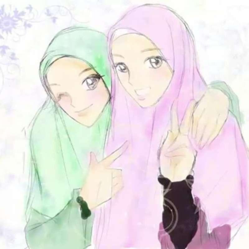 Ide Muslimah Kartun Sahabat Dwdk 12 Kartun Persahabatan Muslimah Anak Cemerlang