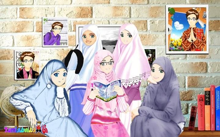 Ide Muslimah Kartun Sahabat E6d5 Koleksi Gambar Muslimah
