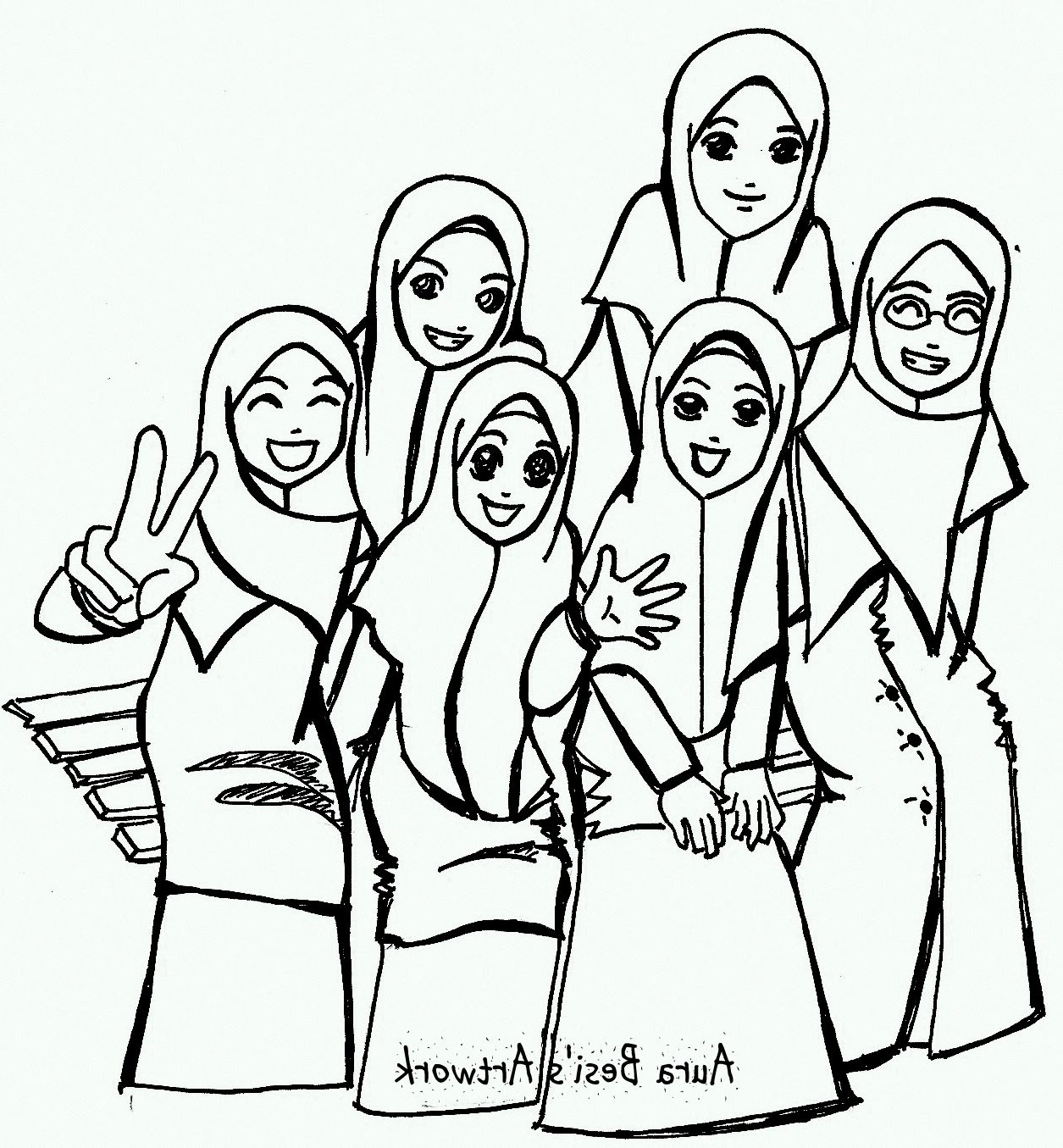 Ide Muslimah Kartun Sahabat Ipdd top Gambar Kartun Muslimah Bersahabat