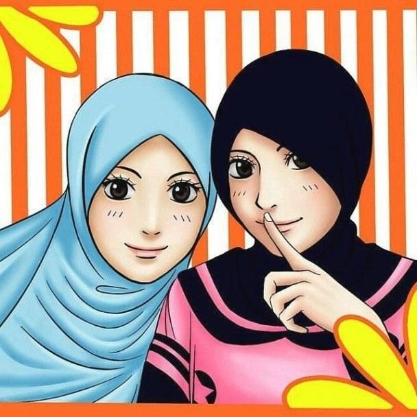 Ide Muslimah Kartun Sahabat Kvdd 43 Gambar Kartun Muslimah Berhijab Lucu Dan Menggemaskan