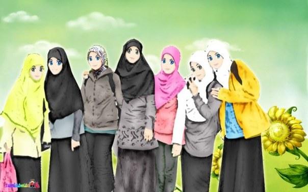 Ide Muslimah Kartun Sahabat Kvdd Kawasan Lynn Damya Koleksi Kartun Muslimah Yang Menawan Hati