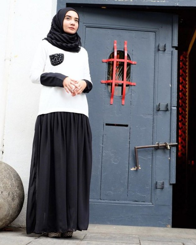 Ide Ootd Baju Lebaran Ftd8 Bingung Baju Buat Lebaran Intip Ootd Hijab Zaskia Sungkar