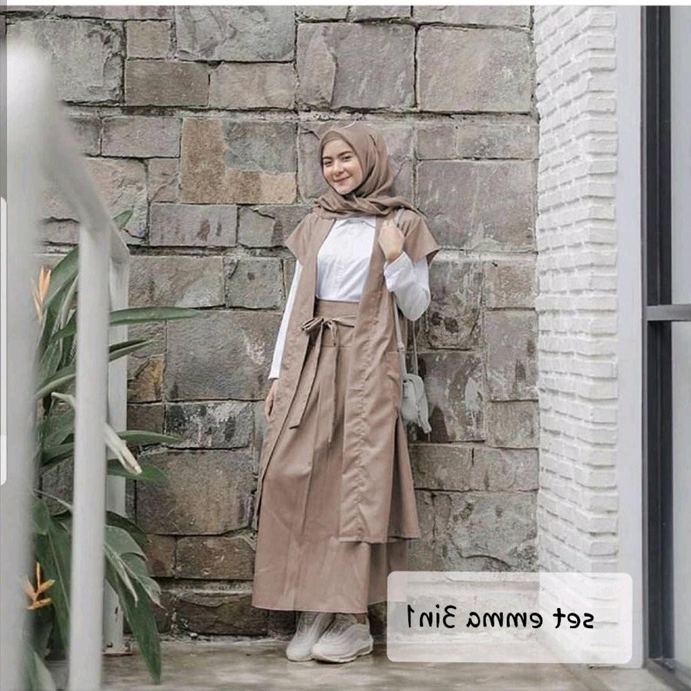 Inspirasi Baju Lebaran 2020 Remaja Wanita Ffdn H Setelan Emma Baju Wanita Cewe Muslim Hijab Remaja Kuliah